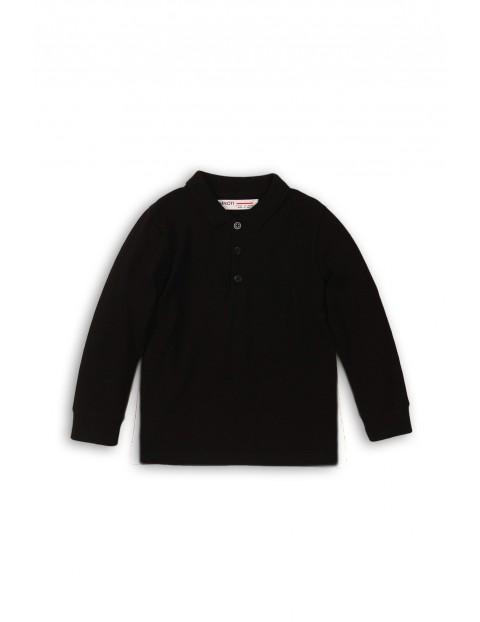 Czarna bluzka z kołnierzykiem- długi rękaw