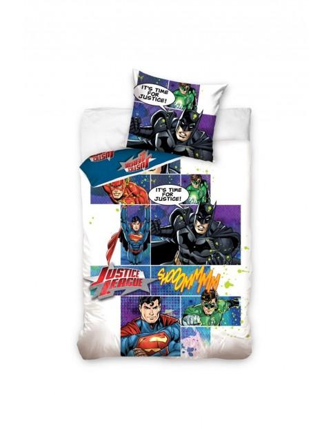 Pościel dla chłopca 160x200 + 70x80 Justice League