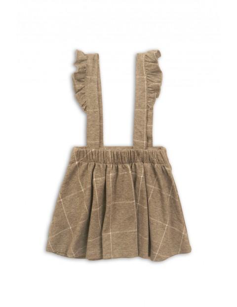Sukienka dziewczęca-szara w kratkę