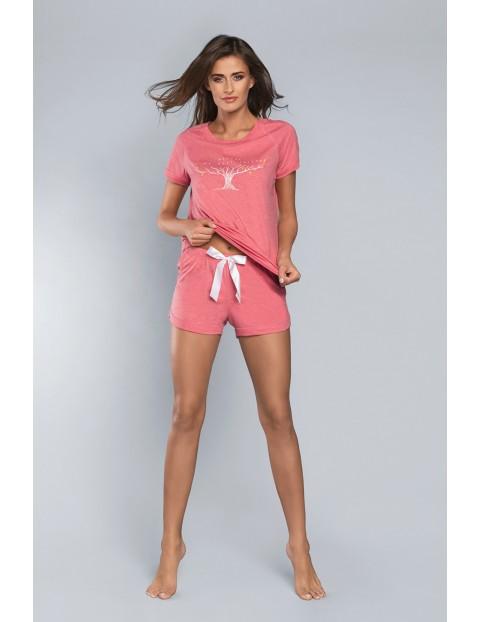 Dwuczęściowa piżama damska - t-shirt i krótkie spodenki