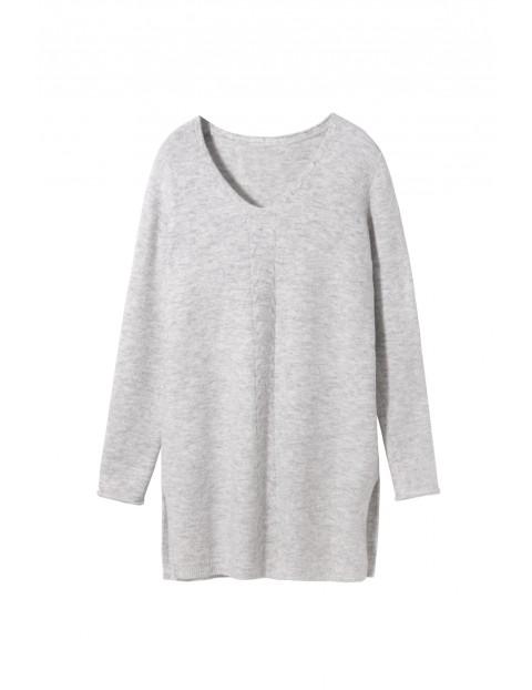 Ciepła dzianinowa bluzka- tunika