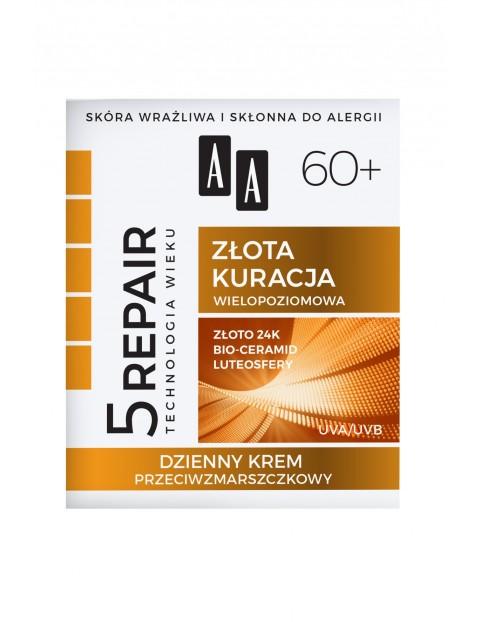 AA Technologia Wieku 5Repair 60+ Złota kuracja Dzienny krem przeciwzmarszczkowy 50 ml