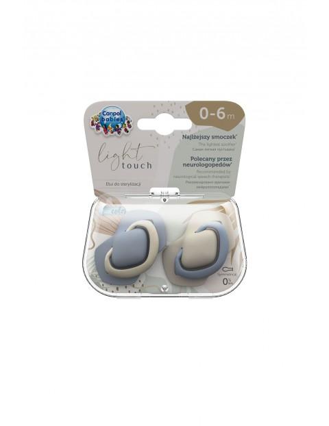 Canpol babies Smoczek silikonowy symetryczny PURE COLOR 2 sztuki 0-6m