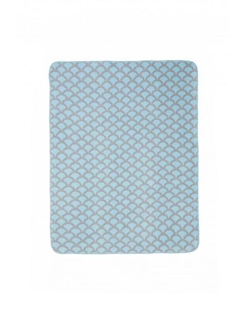 Koc bawełniany niebiesko-szary 75 x 100 cm
