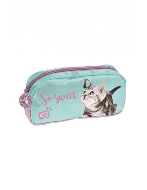 Piórnik saszetka z kotkiem