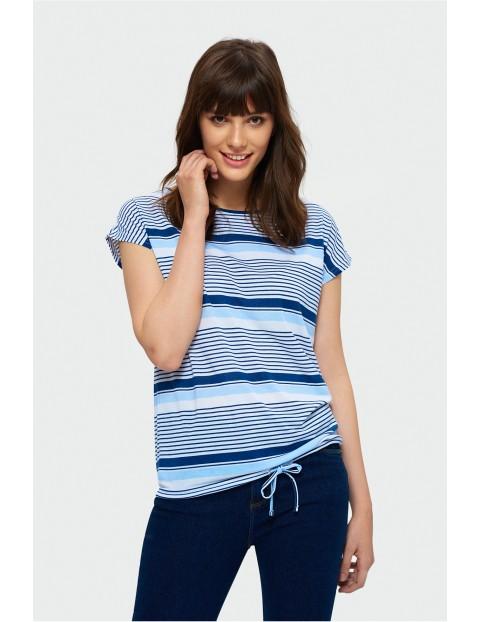 T-shirt z krótkim rękawem w niebieskie paski