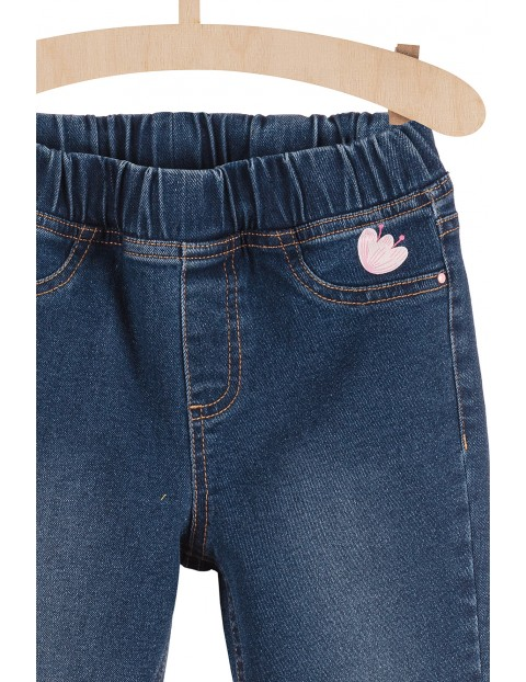 Spodnie jeansowe dla dziewczynki- granatowe