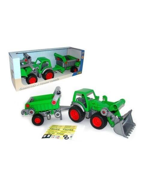 Traktor ładowarka z naczepą