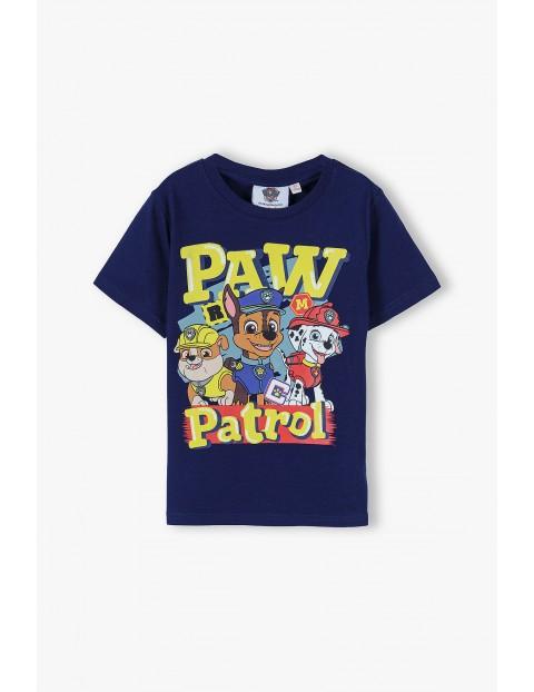 T-shirt chłopięcy Psi Patrol - granatowy