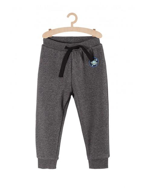 Spodnie chłopięce dresowe- szary malanż