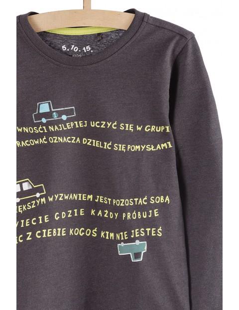 Bluzka dla chłopca - długi rękaw i polskie napisy