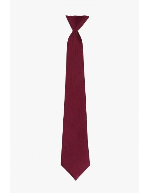 Krawat- bordowy