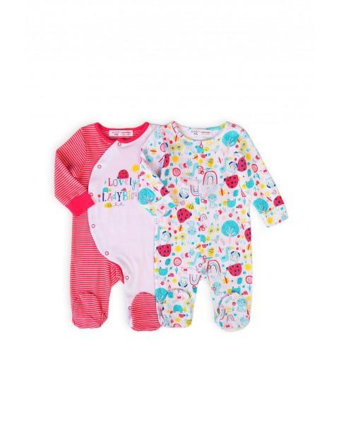 Śpiochy niemowlęce z długim rękawem- 2-pak