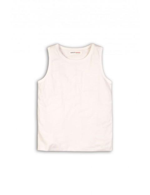 Biała bluzka na ramiączka z kieszoną