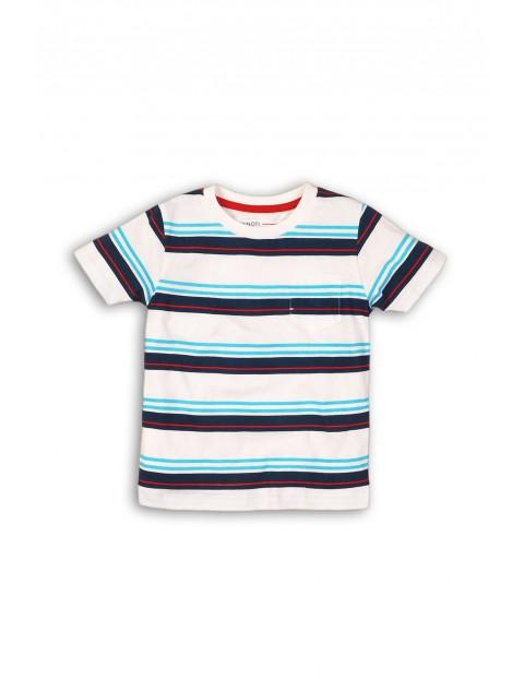 T-shirt chłopięcy bawełniany w paski