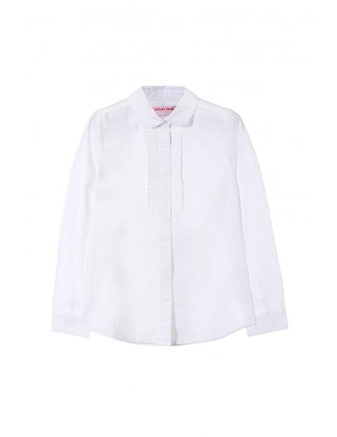 Koszula biała dla dziewczynki 4J3306