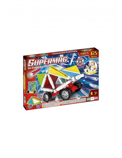 Klocki magnetyczne Supermag Tags Wheels 65el- wiek 3+