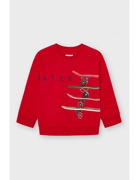 Bluza chłopięca Mayoral z deskorolkami - czerwona