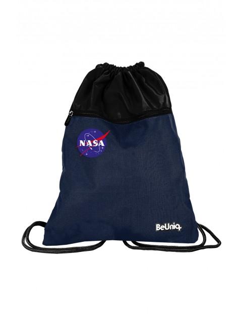 Granatowy worek na buty NASA