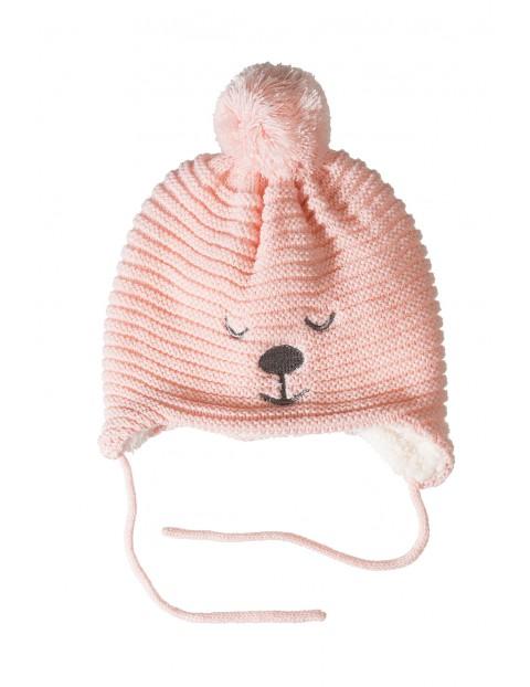Czapka niemowlęca na zimę 5X3528