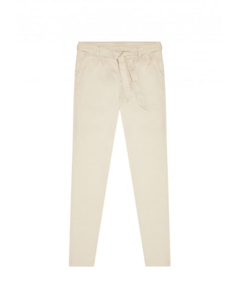 Spodnie damskie typu chinos- beżowe