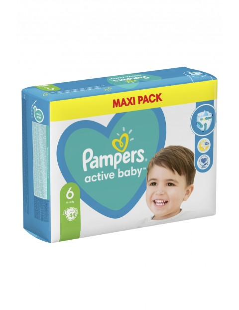 Pampers Active Baby, rozmiar6, 44pieluszek, 13-18kg