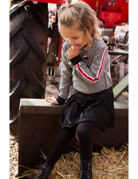 Sukienka dziecięca szara z czarnym dołem