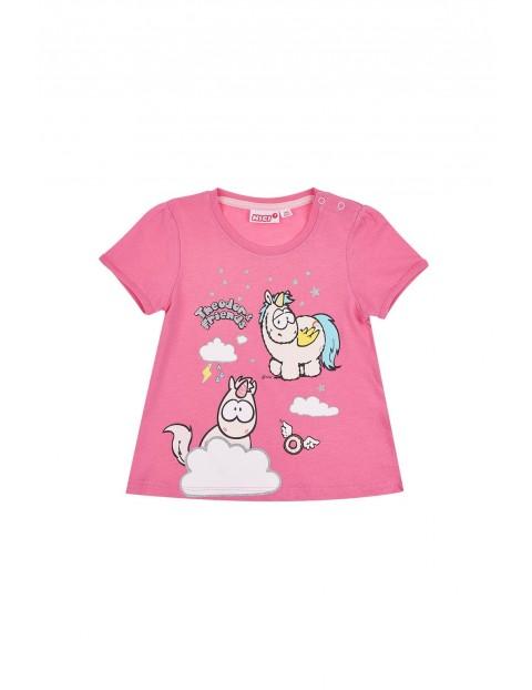 Koszulka niemowlęca różowa NICI- Jednorożce