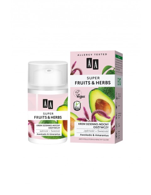AA Super Fruits&Herbs krem dzienno-nocny odżywczy jędrność + świeżość 50 ml