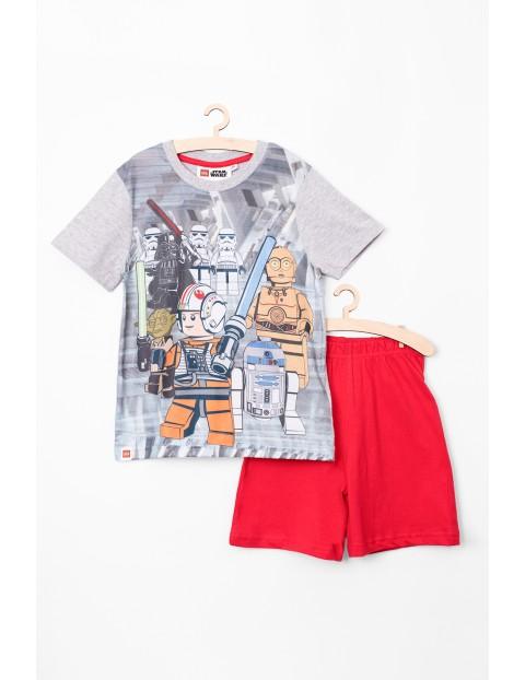 Piżama chłopięca Lego Star Wars szaro-czerwona