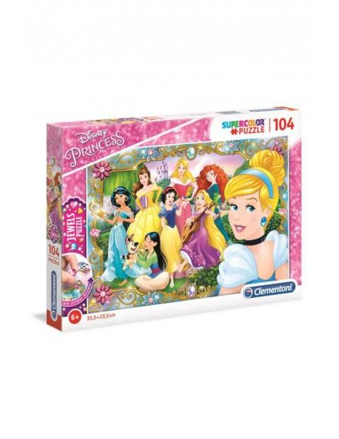 Puzzle z ozdobami Księżniczki Disneya - 104 el