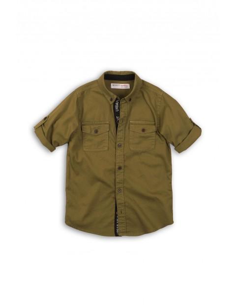 Koszula chłopięca z kieszonkami - khaki