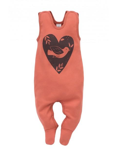 Śpiochy niemowlęce Little Bird - czerwone