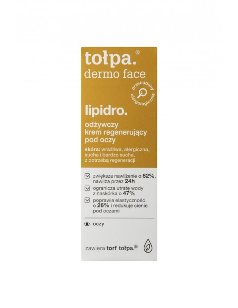 Lipidro Odżywczy krem regenerujący pod oczy Tołpa 10 ml