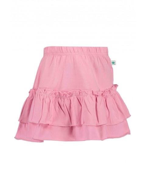 Spódnica dziewczęca jasnoróżowa z falbankami