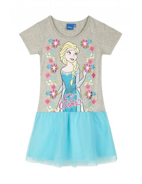 Sukienka dziewczęca Kraina Lodu- niebieska