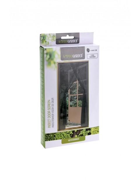 Moskitiera podwójna na drzwi przeciw komarom i owadom - czarna