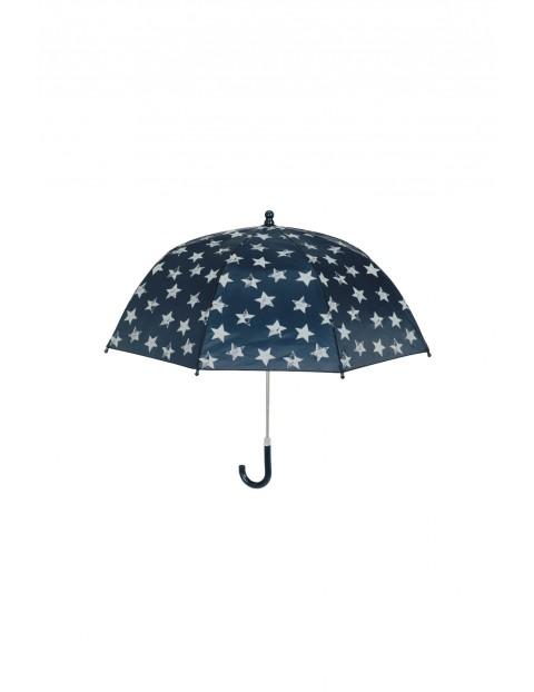 Parasolka granatowa w gwiazdki