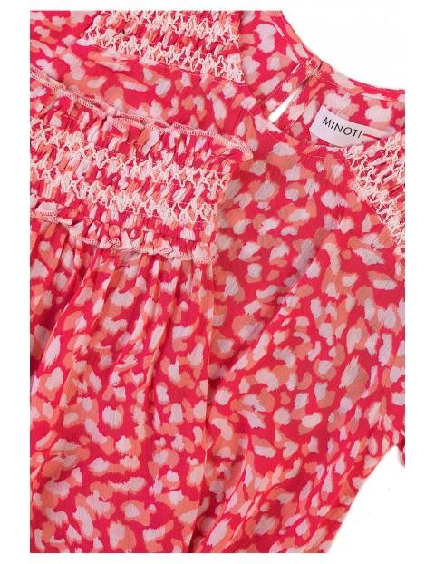 Komplet dziewczęcy z wiskozy- bluzka + szorty