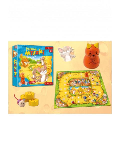 Gra planszowa dla dzieci- Dzielne myszki wiek 4+