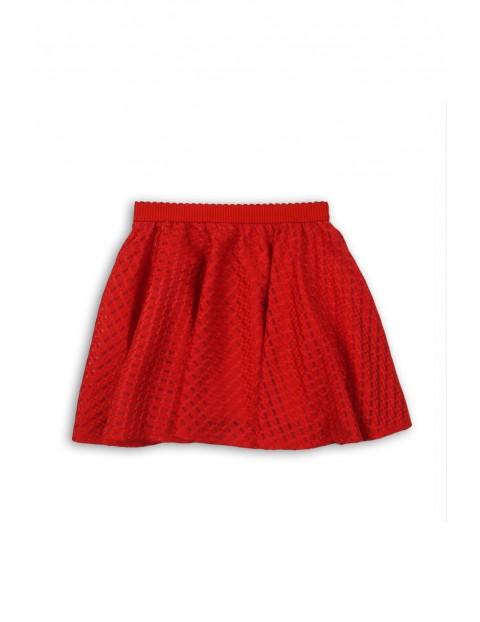 Elegancka spódnica dziewczęca- czerwona