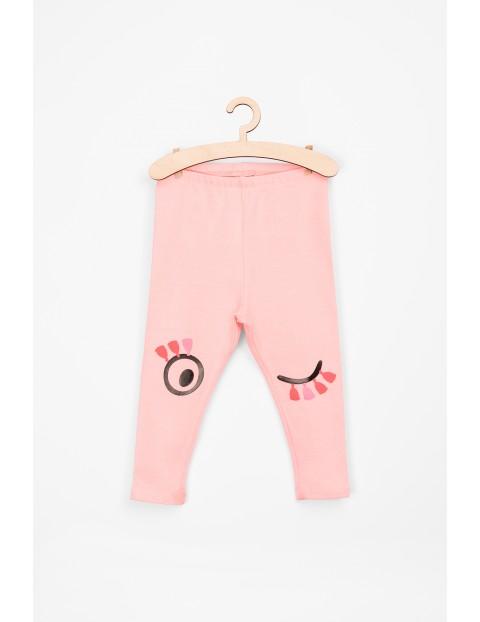 Leginsy różowe dla niemowlaka