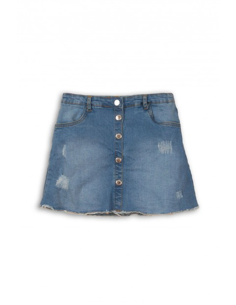 Spódnica dziewczęca jeansowa z przetarciami
