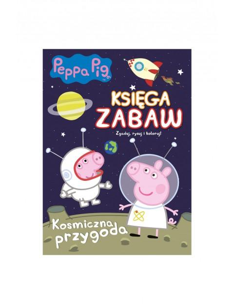 Zbiór gier, kolorowanek i łamigłowek  - Kosmiczna przygoda Świnka Peppa, księga zabaw