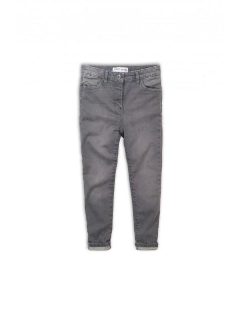 Szare jeansowe spodnie dla chłopca