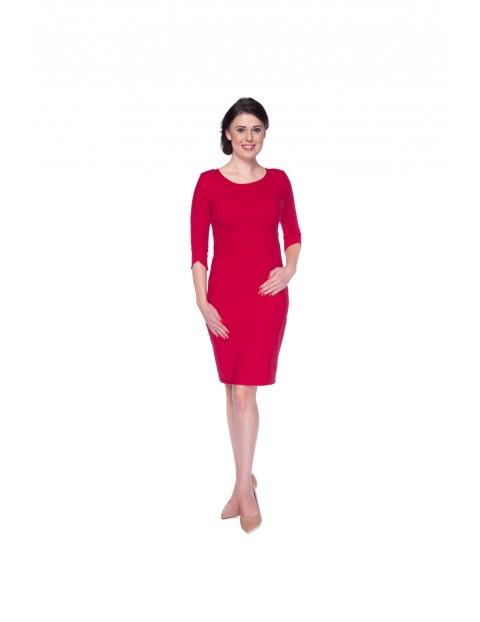 Sukienka Milky Dress karminowa czerwień