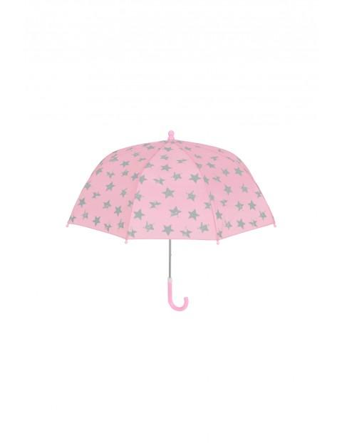 Parasolka dla dziewczynki- różowa w gwiazdki