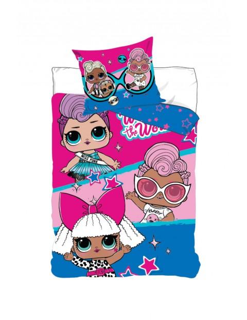 Pościel dla dziewczynki LOL Surprise 160x200+70x80 cm