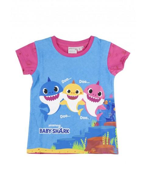Piżama niemowlęca z krótkim rękawem Baby Shark