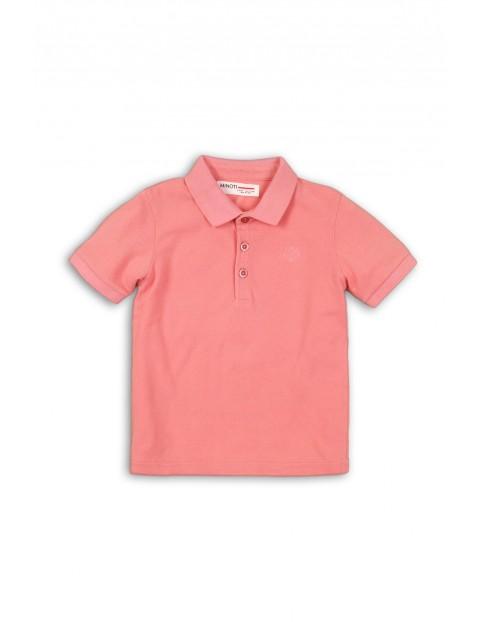 Bluzka z kołnierzykiem - różowa